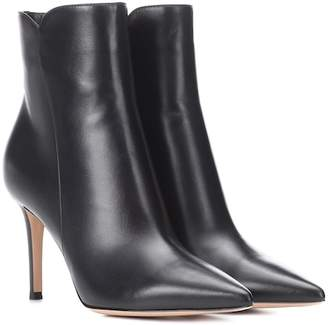 Gianvito Rossi Levy 85 leather ankle boots