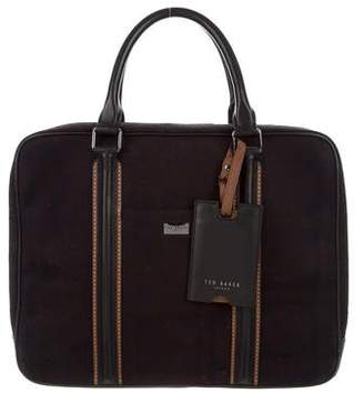 Ted Baker Plaid Wool Briefcase