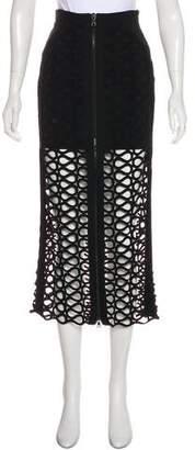 David Koma Lace Midi Skirt