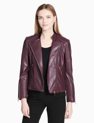 Calvin Klein asymmetric zip biker jacket