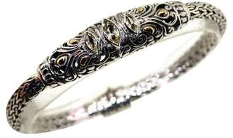 Bali Design 925 Silver & 18K Yellow Gold Lemon Citrine Filigree Bracelet