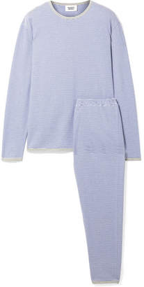BRIGITTE Sleepy Jones Striped Cotton-jersey Pajama Set - Blue