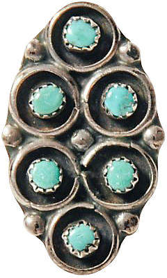 One Kings Lane Vintage Sterling Silver & Turquoise Ring - Maeven