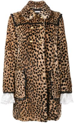 Philosophy Di Lorenzo Serafini double breasted leopard print coat