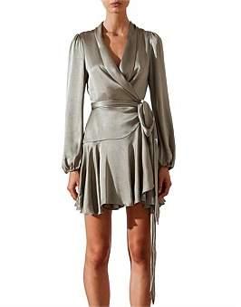 Shona Joy Joan Wrap Mini Dress