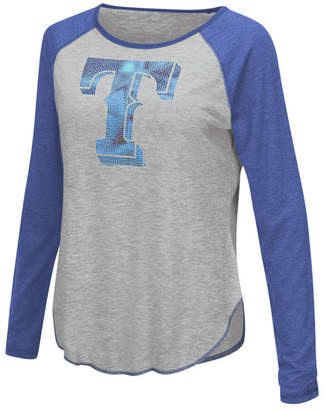 Touch by Alyssa Milano Women's Texas Rangers Line Drive Long Sleeve T-Shirt