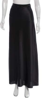 Marina Moscone Slit-Accented Silk Skirt w/ Tags