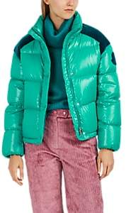 Moncler 2 1952 Women's Chouette Velvet-Trimmed Down-Quilted Jacket - Green