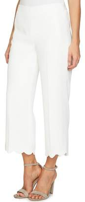 CeCe Scalloped Crepe Crop Pants