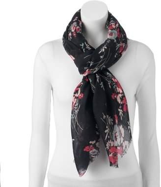 Chaps Women's Floral Oversized Oblong Wrap Scarf