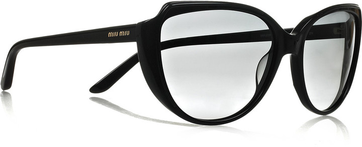 Miu Miu Cat-eye frame acetate sunglasses