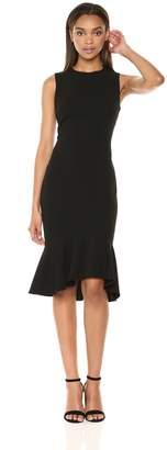 Calvin Klein Women's Sleeveless Sheath with Ruffle Hem Dress
