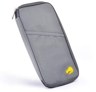 Tonewear Inc Multifunctional Travel Wallet For Passport Card Money Ticket Mobile Holder Clutch Bag-Grey