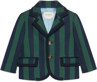 Baby regimental stripe jacket $655 thestylecure.com
