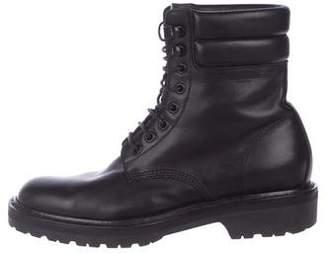 Saint Laurent Leather Combat Boots