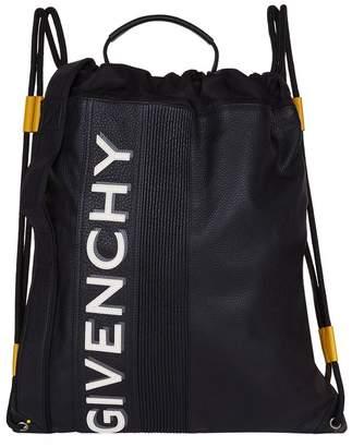 Givenchy Reverse Logo Drawstring Backpack