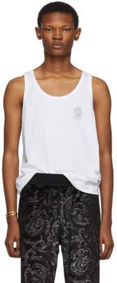 Versace Underwear White Medusa Tank Top