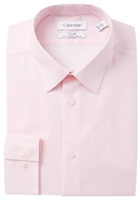 Calvin Klein Mini Check Stretch Slim Fit Dress Shirt