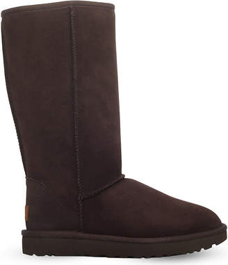 at Selfridges · UGG Ladies Dark Brown Luxury Classic Ii Tall Sheepskin Boots