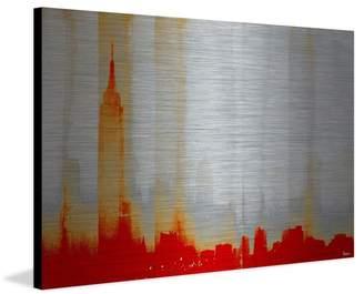 Parvez Taj G41-09-AL-36 24x36 Red New York Art Print on Aluminum