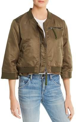 Doma Layered-Look Bomber Jacket
