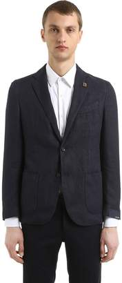 Lardini Cotton & Ramie Hopsack Jacket