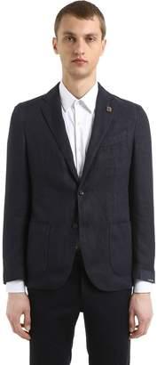 Lardini Cotton & Ramie Hopsack Jacket