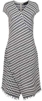 St. John Grid Knit Dress