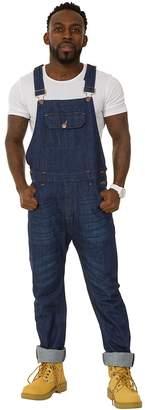 USKEES Jesse Skinny Fit Mens Bib Overalls - Indigo Denim Overalls Slim Leg