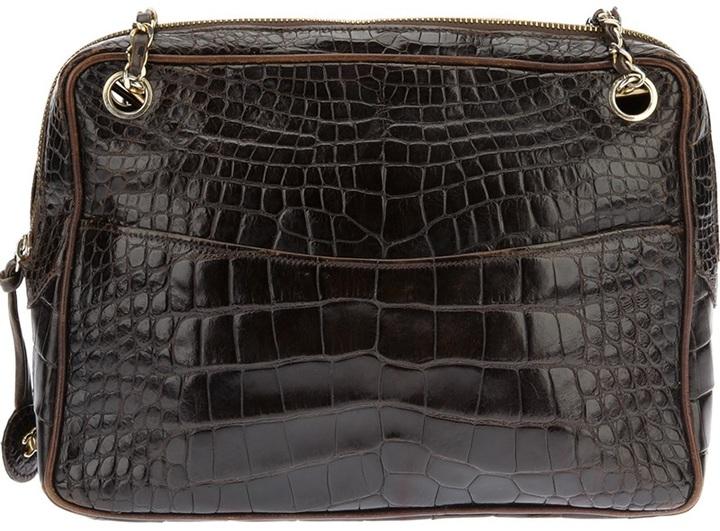 Chanel crocodile chain handbag