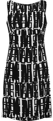 Milly Printed Crepe Mini Dress