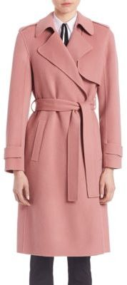 Theory Oaklane Wrap Coat $795 thestylecure.com