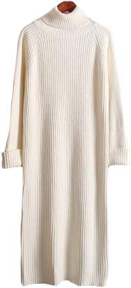 Goodnight Macaroon 'Dalla' Turtleneck Knitted Dress (4 Colors)