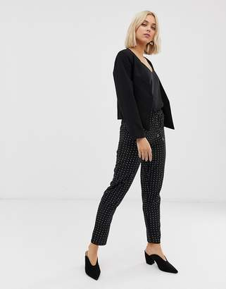 Only Michelle polka dot trousers