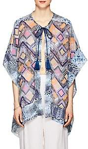 OndadeMar WOMEN'S FRESSIA MIXED-PRINT VOILE COVER-UP - BLUE PAT.