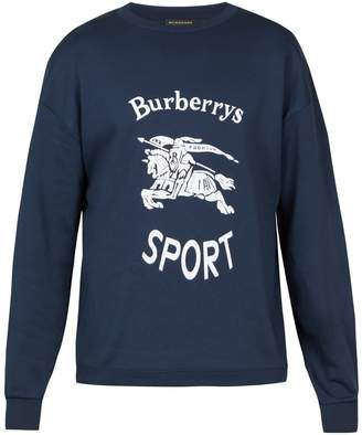 Burberry Unisex logo-print cotton-blend sweatshirt