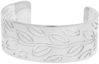 Bulgari Enigma By Sterling Silver Leaves Bangle Size Medium