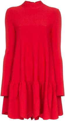 Valentino scallop hem stretch jersey mini dress