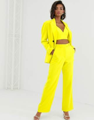 Asos Edition EDITION high waist mansy suit pant