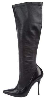 Ermanno Scervino Leather Knee-High Boots