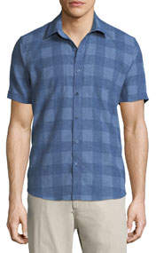 Buffalo-Check Short-Sleeve Sport Shirt