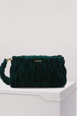 Miu Miu Velvet Matelasse Big Crossbody Bag