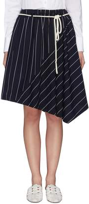 Vince Rope belt stripe asymmetric skirt