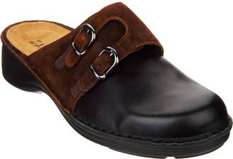 Naot Footwear Leather Double Buckle Clogs - Leilani