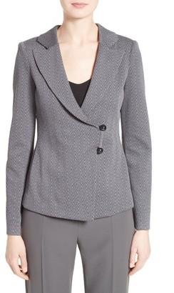 Women's Armani Collezioni Chevron Jersey Jacquard Blazer $1,195 thestylecure.com