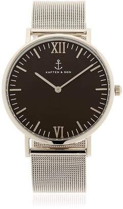 KAPTEN & SON 40mm Steel Mesh Watch
