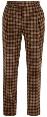 Fendi Checked Trousers - Mens - Brown Multi