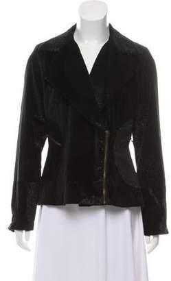 Anna Sui Velvet Notch-Lapel Jacket Black Velvet Notch-Lapel Jacket
