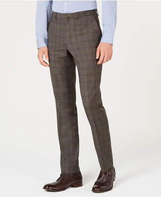 Cole Haan Men Grand Os Slim-Fit Wearable Technology Plaid Suit Pants