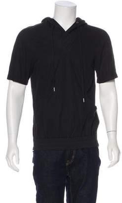 Helmut Lang Light Weight Sateen Hooded Sweatshirt